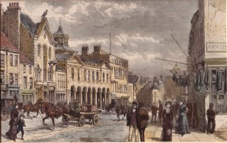 historic view of high street Sunderland, 19th century