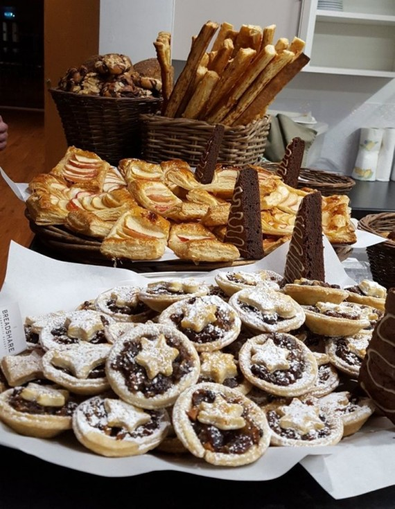 bakery products to sample.