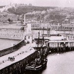 historic image of harbour 1880text...