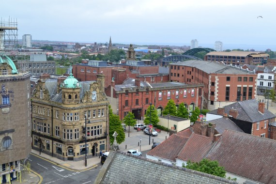 bishopwearmouth from the air