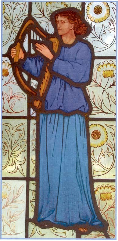 stained glass window attributed to Burne Jones