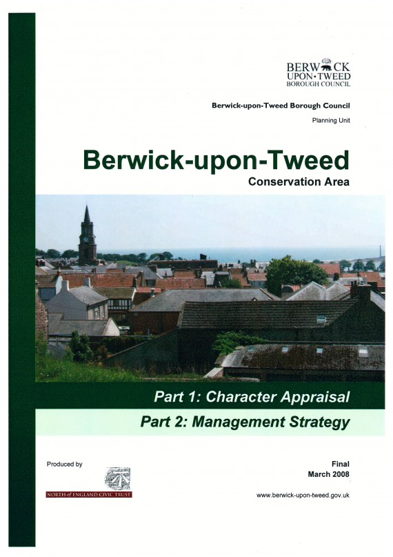 cover for Berwick upon Tweed CACA report..