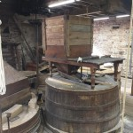 restored millstones ready to mill