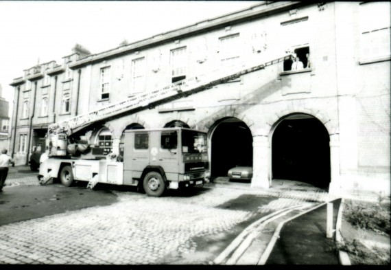 removing beds from the fire station Sept 1992