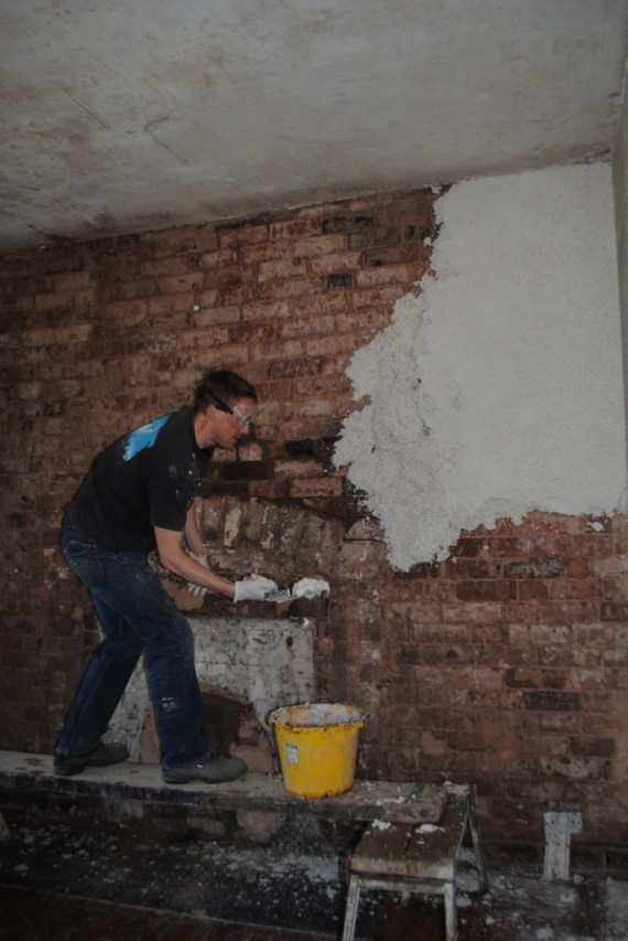 plastering with hemp lime