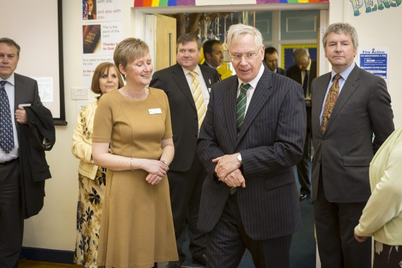 Junior school head with royal visitor