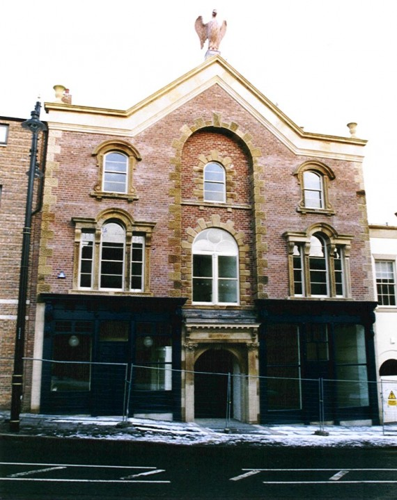 front of building 2002.