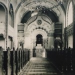 black and white image of synagogue text...