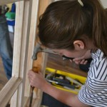 lady using joinery tools