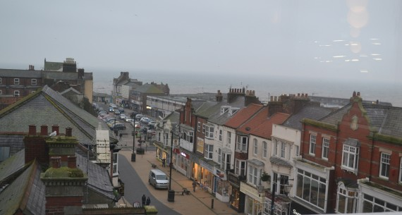 aerial view of king street, Bridlington