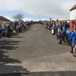 schoolchildren waiting for visitors