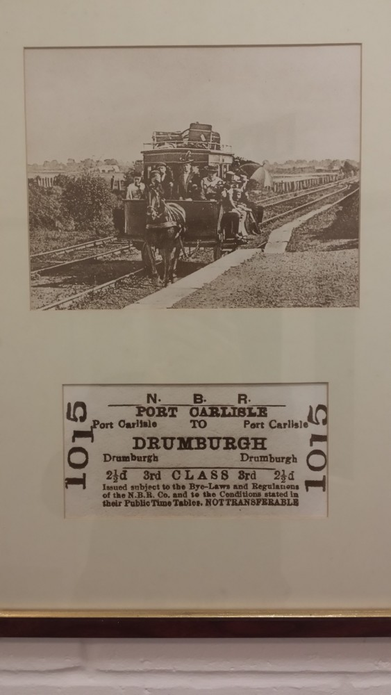 old train ticket port carlisle to drumburgh