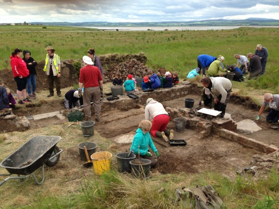 excavation works on holy island